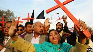 Pakistani Christians rallied for Asia Bibi in Lahore on Christmas Day