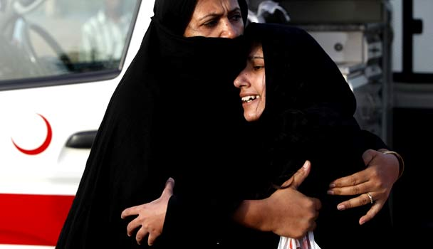 Women mourn the loss of relatives after the attack on May 28 PHOTO: REUTERS