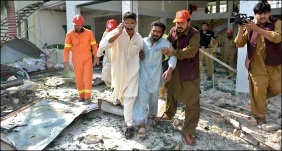 Several others were wounded in the suicide blast in the worship place in the northwestern Mardan town. - Photo by AFP