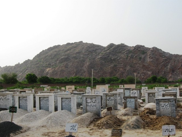 The tombstones in Rabwah's graveyards tell a macabre tale. PHOTO: SABA IMTIAZ/EXPRESS