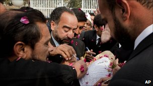 Lawyers jostled outside court to represent Mumtaz Qadri
