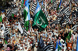 Pakistani Islamists attend a rally supporting the blasphemy law on Jan. 9, 2011, in Karachi. Asif Hassan/AFP/Getty Images