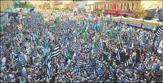 Crushing the voice of reason: a massive rally in Karachi against amendments to the blasphemy law.