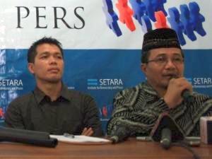Ahmadiyah Spokesperson Zafrullah Ahmad Pontoh (Antara/ Maulana Surya Tri Utama)