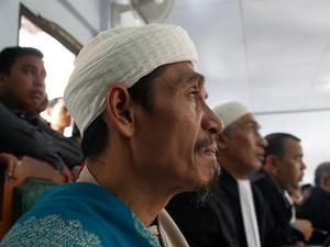 Ujang M. Arif, a Muslim cleric, stands trial for his role in the February attack of an Ahmadiyah house in Cikeusik, western Java. © 2011 Private