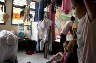 Ahmadiyah families in Transito shelter, Mataram, West Nusa Tenggara.
