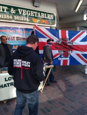 The EDL at Cradley Heath market